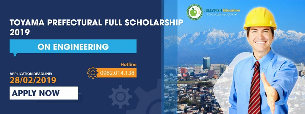 TOYAMA PREFECTURAL FULL SCHOLARSHIP 2019 ON ENGINEERING