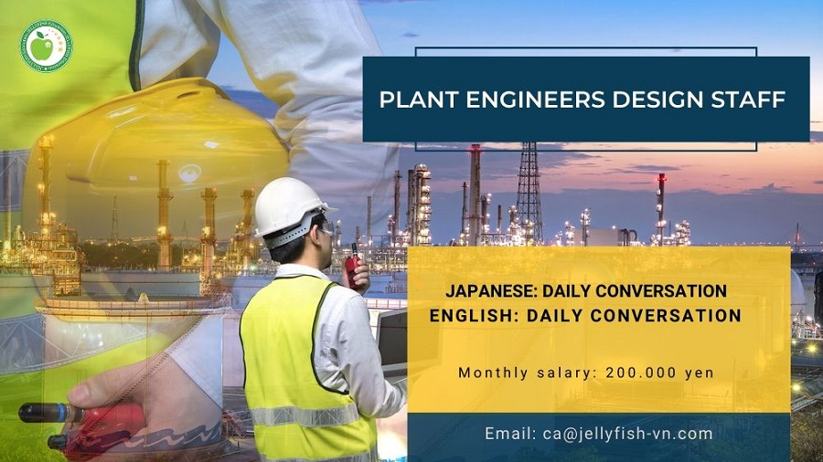 PLANT ENGINEERS DESIGN STAFF IN TOKYO
