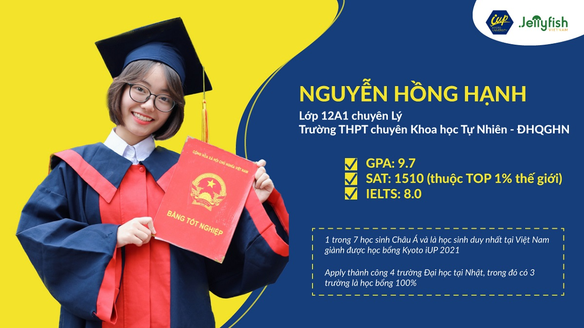 Nguyen Hong Hanh – The only Vietnamese student who gained the 100% scholarship from Kyoto University in 2021